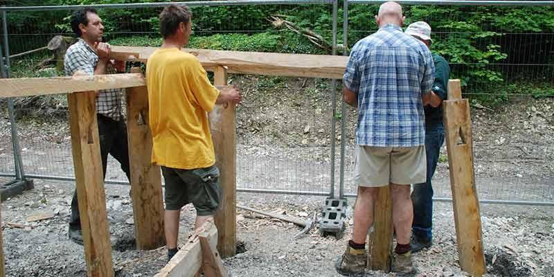 Saxon house construction: posts