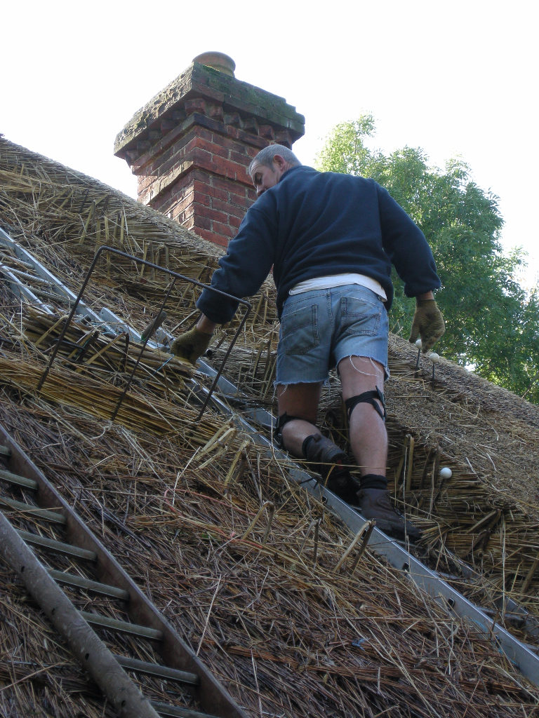 Thatching at Gonville Cottage