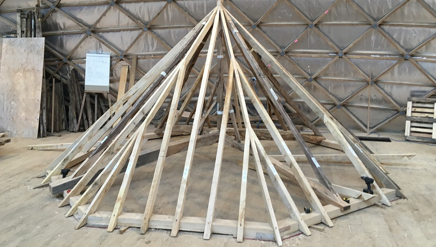 Eastwick Park Dairy: roof reconstruction at the Museum