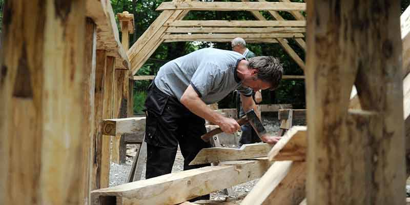 Saxon house construction: timber framework
