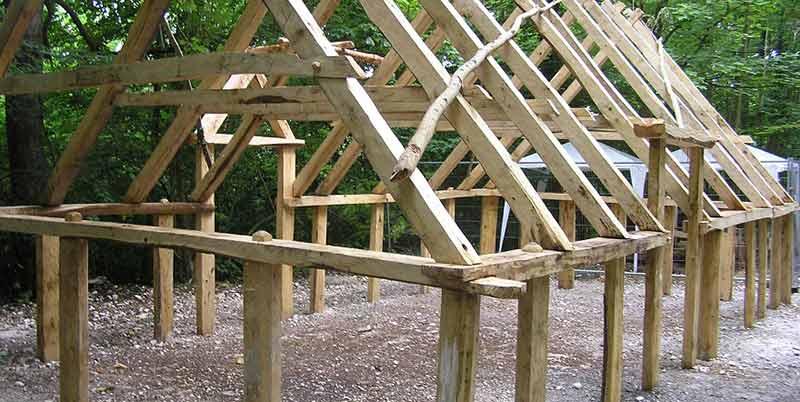 Saxon house construction: frame
