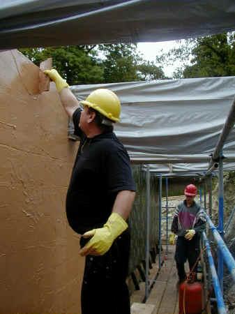 Gridshell waterproof membrane walls