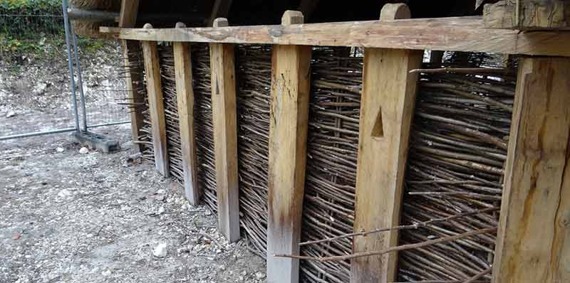 Saxon house construction: walls