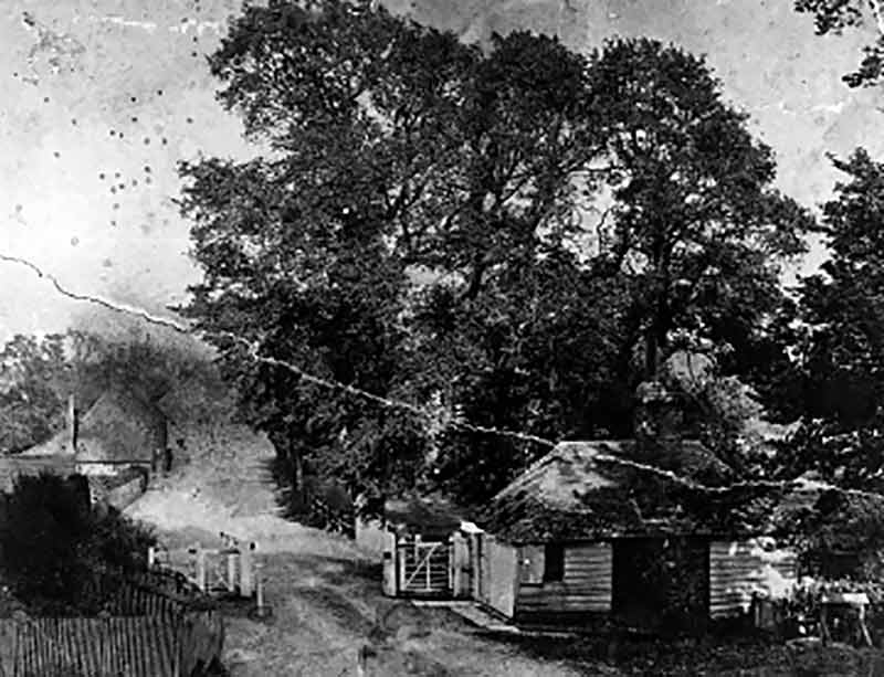 19th century photograph of the toll cottage at Bramber