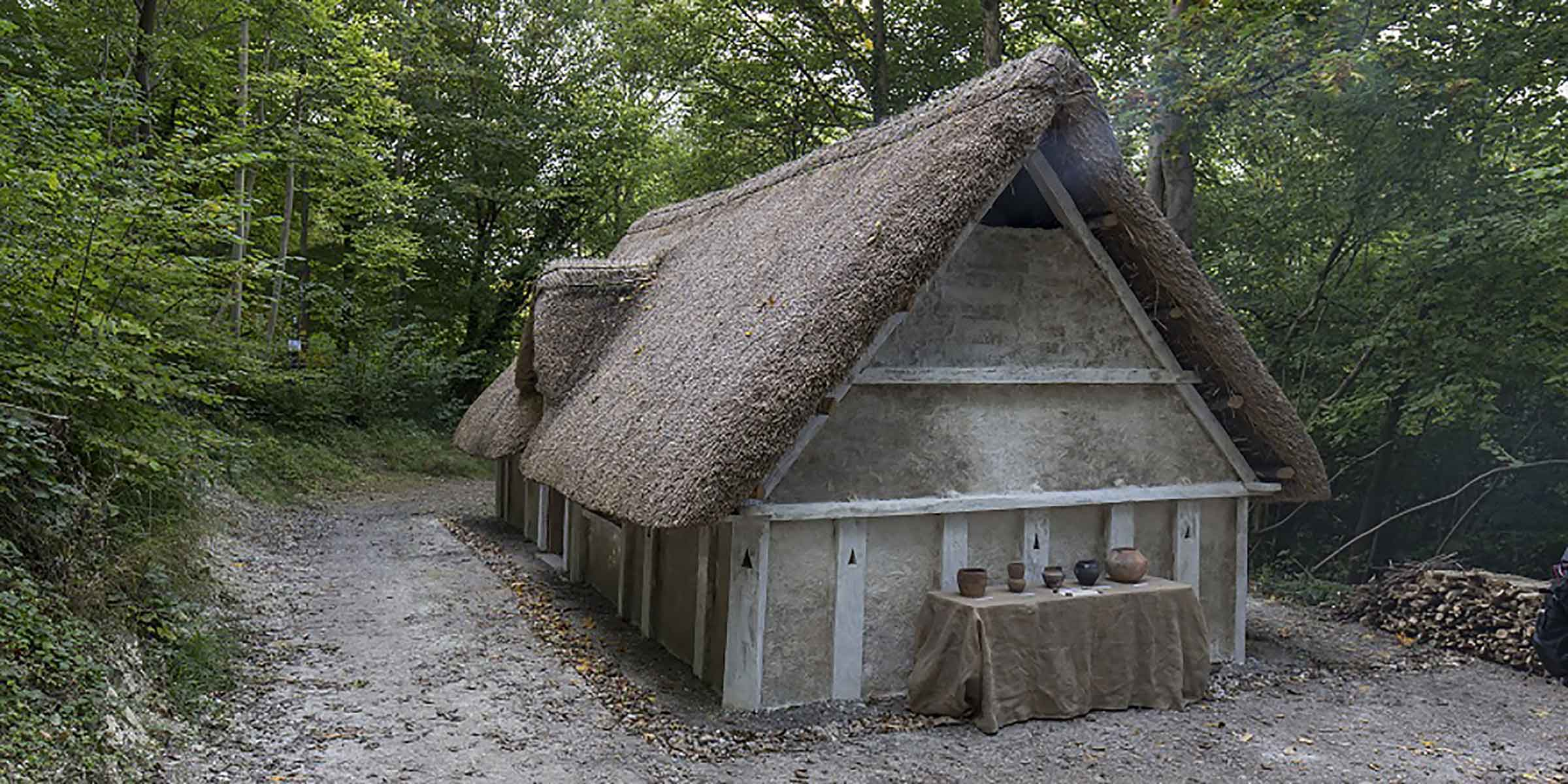 Anglo-Saxon hall house at Weald & Downland Living Museum