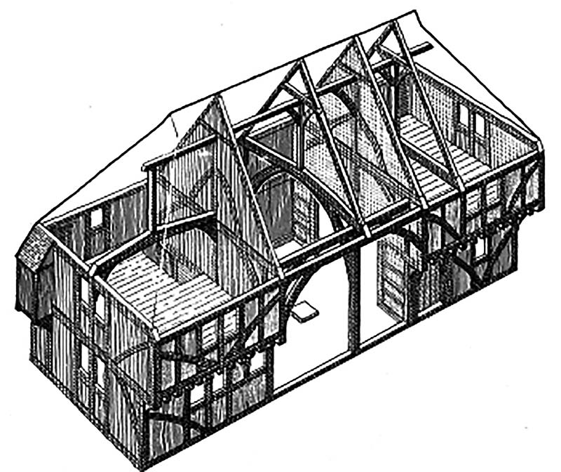 Cutaway drawing of Bayleaf showing structure and plan