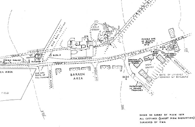 General plan of Hangleton excavations