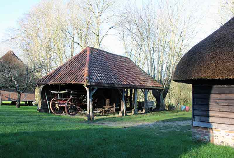 Horse whim and open cart shed