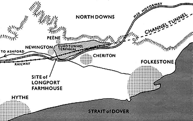 Longport site location near Eurotunnel