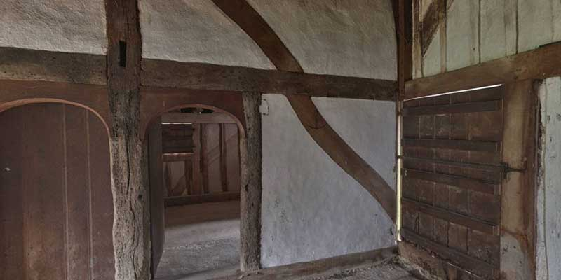 Internal elm timber in medieval house from North Cray