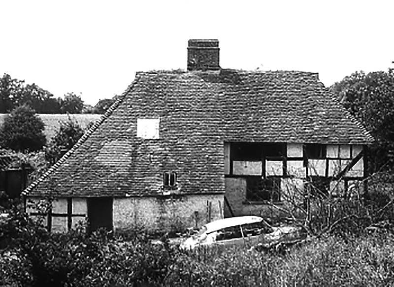 Pendean farmhouse on its original site in about 1970
