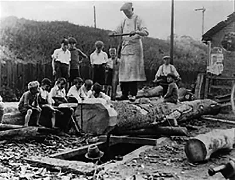 Pit sawing in the 20th century