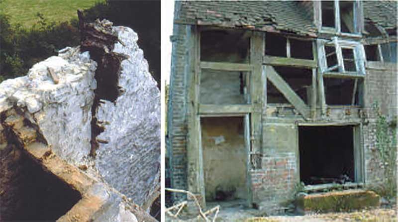 Poplar Cottage during dismantling