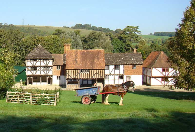 The market place at the Weald & Downland Living Museum