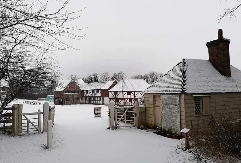 Toll House in the snow