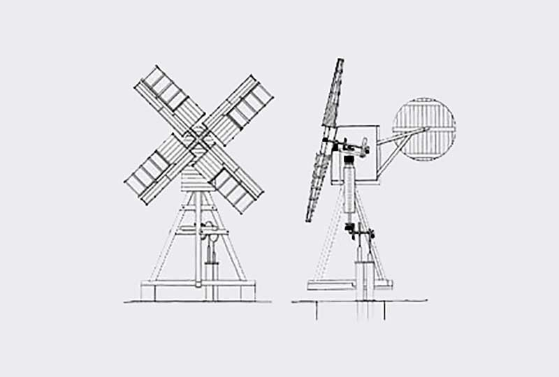 Windpump elevation diagram