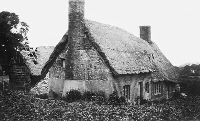 Boarhunt Hall House photographed just after the First World War