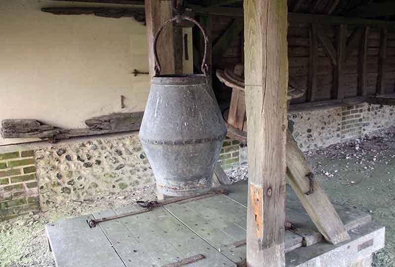 Bucket and well