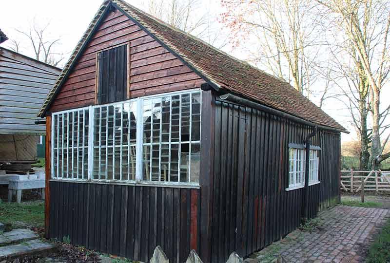 Carpenters shed glazing
