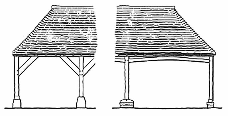 Cattle shed illustration