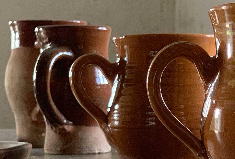 Earthenware jugs