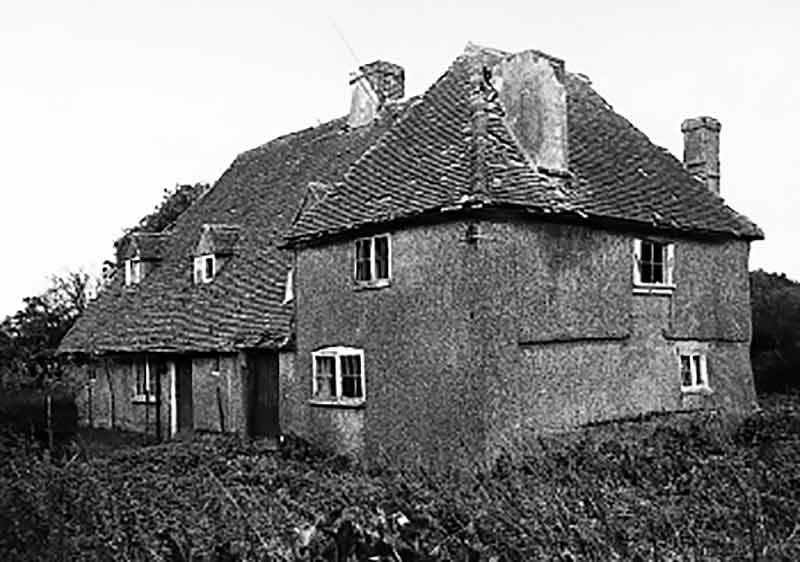 Medieval House from Sole Street before dismantling in 1970
