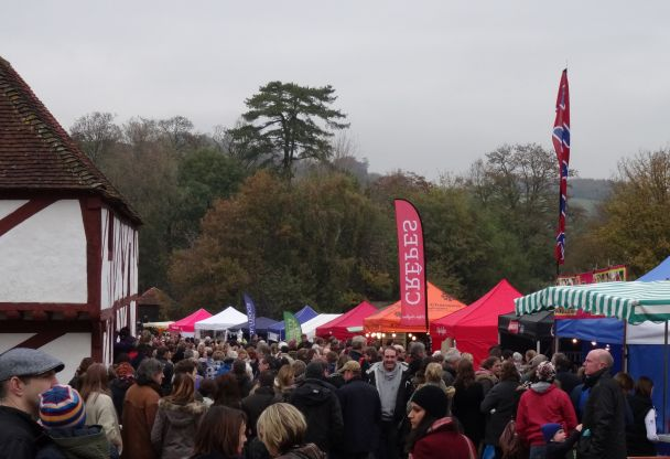 Stalls at the Christmas Market