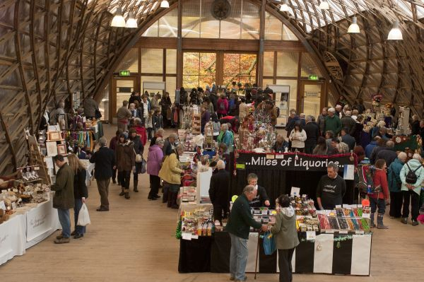 Market stalls in the Gridshell
