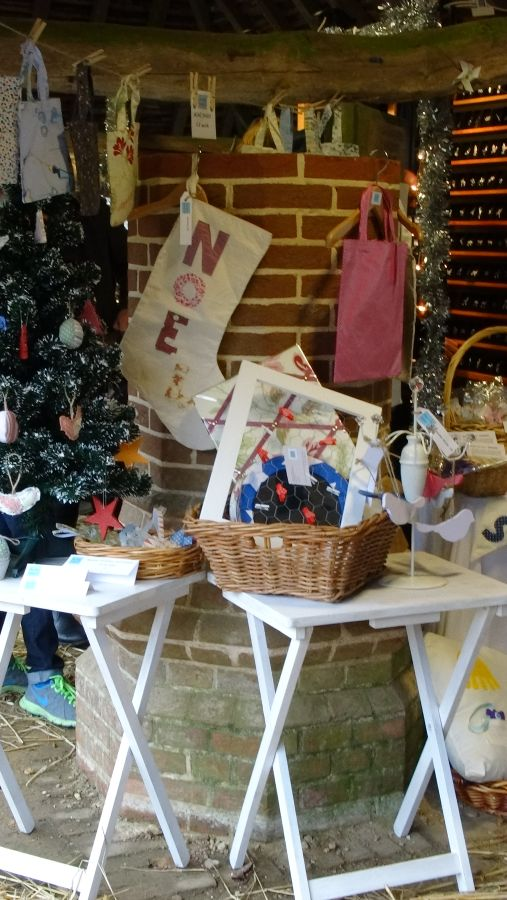Christmas stall under the Brickshed