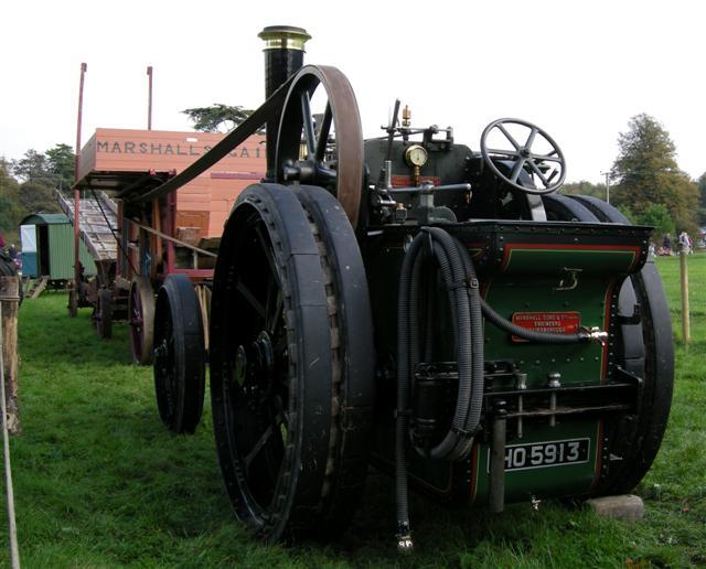 Threshing train engine