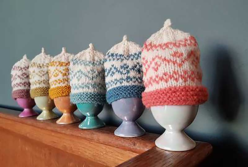 Fairisle knitted hats