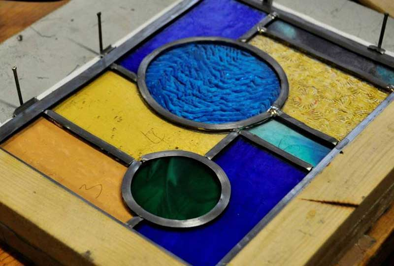 Leaded-light stained glass