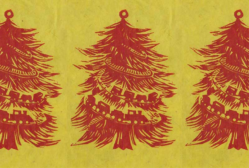 Print Your Own Woodcut Christmas Cards