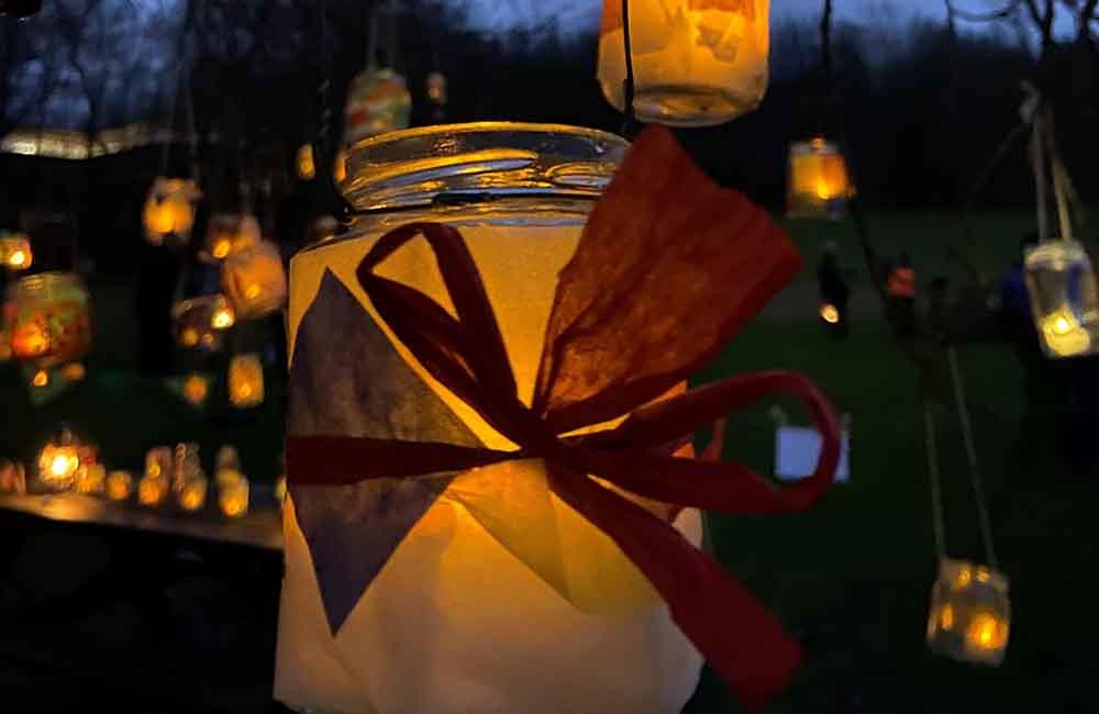 Lantern on a tree at Tree Dressing