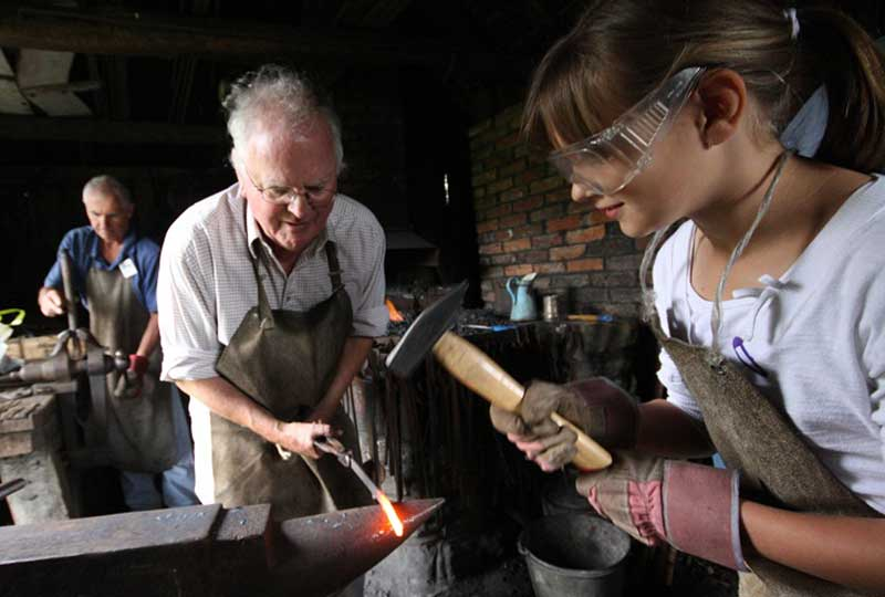 Weald & Downland Living Museum blacksmith