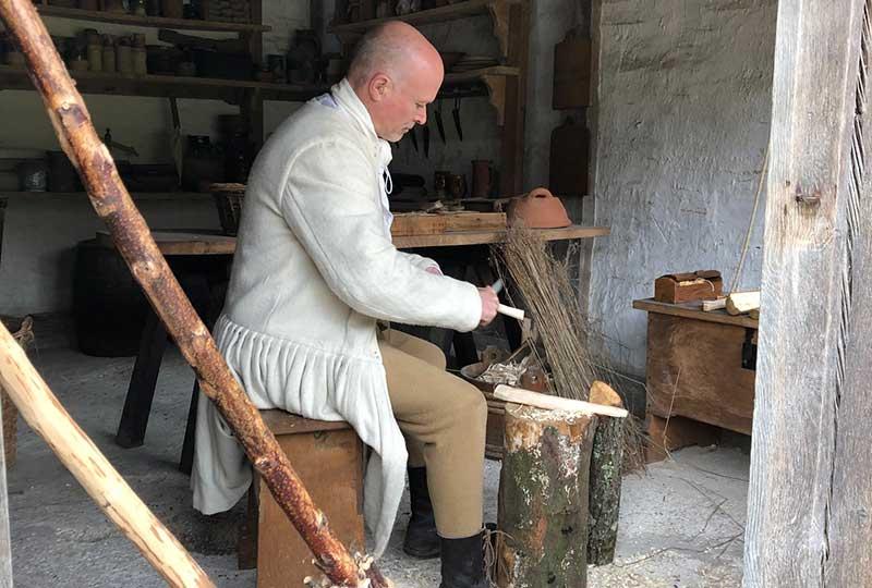Woodworking craft demonstration