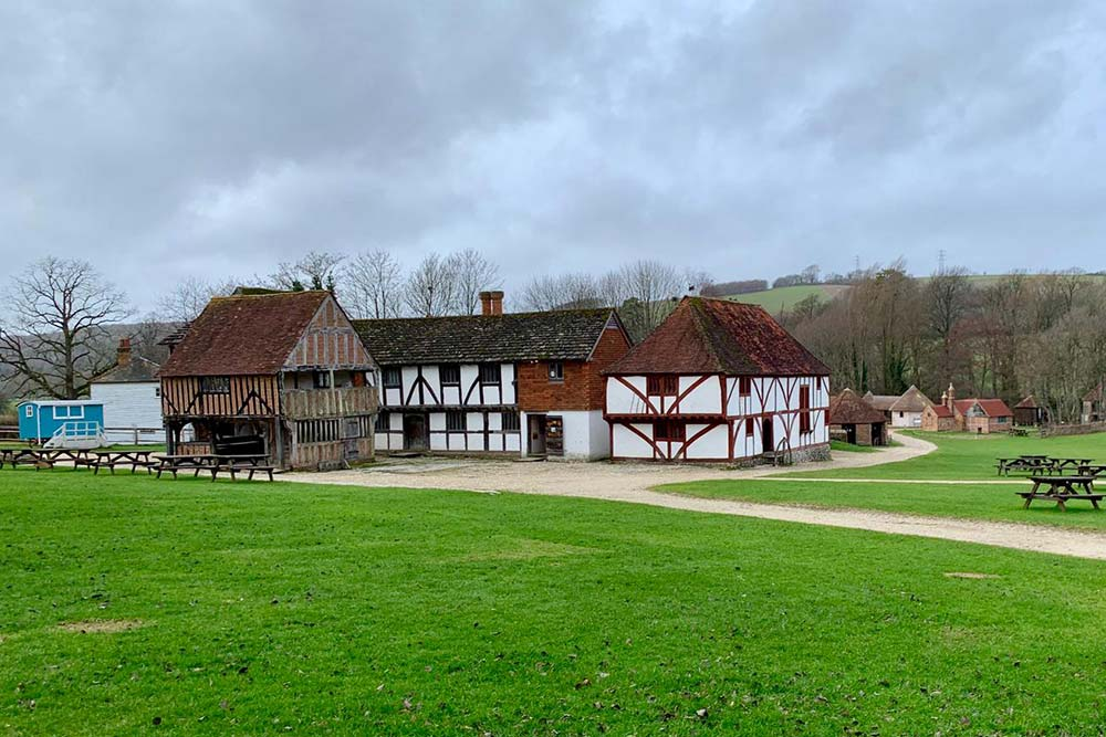 The market square at the Weald & Downland Museum