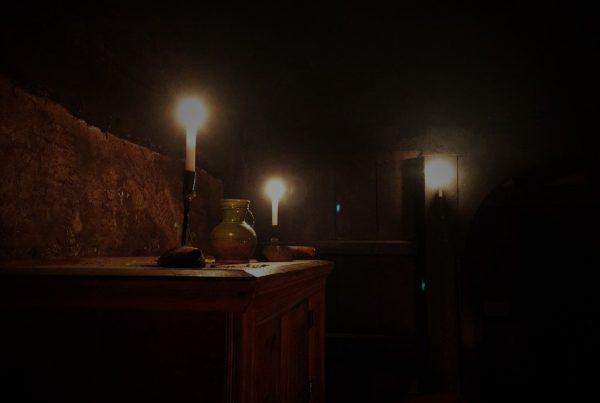 Candlemas image of candles inside Bayleaf