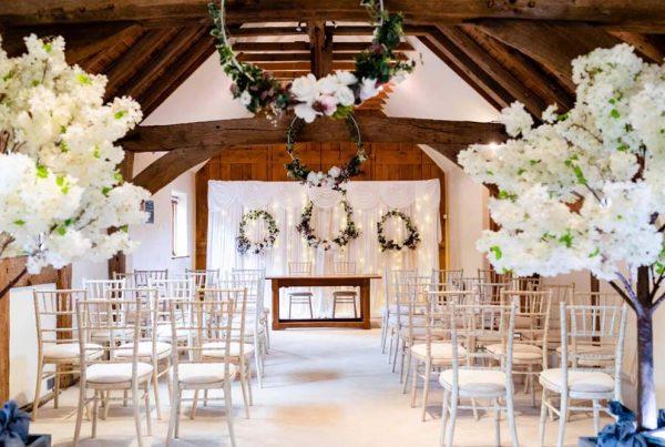 Crawley Hall dressed for a wedding event