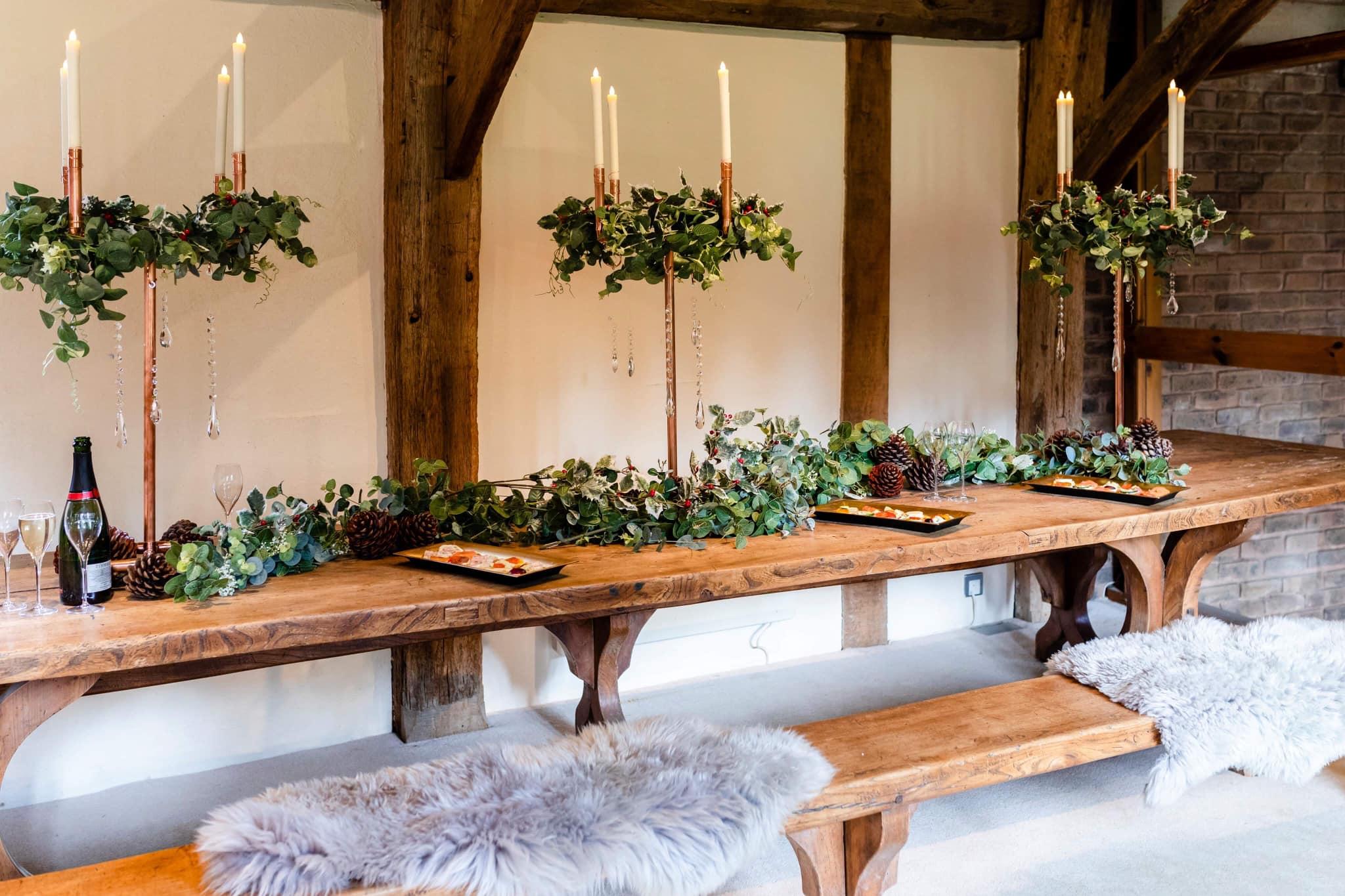 Crawley Hall table at wedding