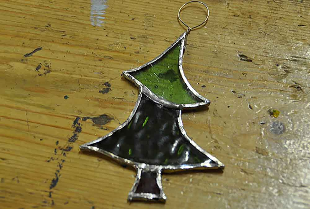 Stained Glass Christmas Tree Decoration