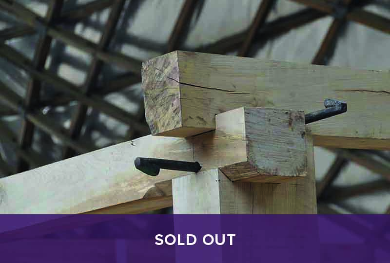 Sold out - Oak timber framing: Jowl posts course