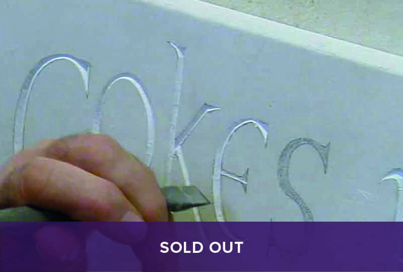 Sold out - letter carving in stone course