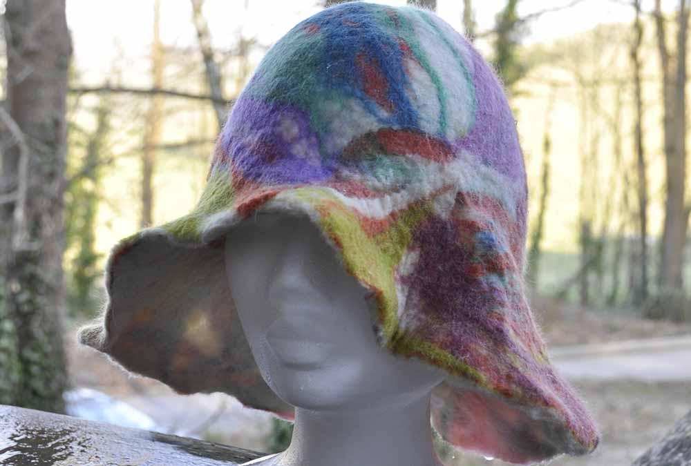Colourful felt hat