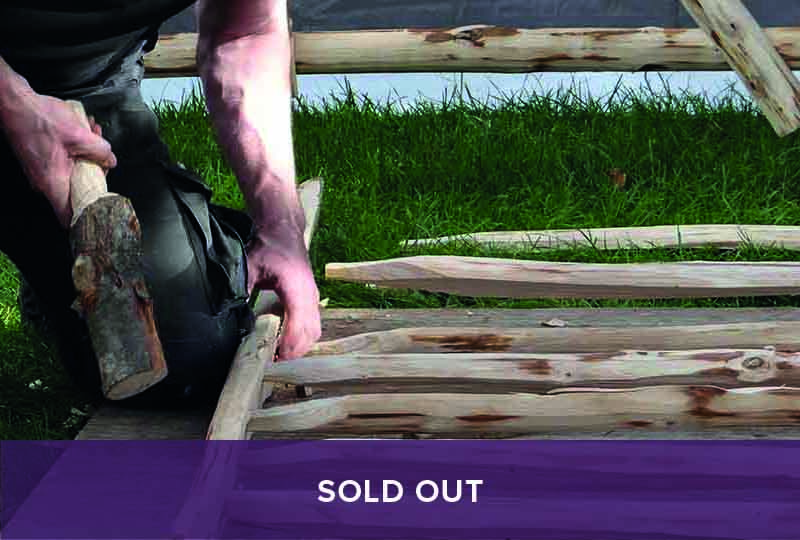 Sold out gate hurdle making course