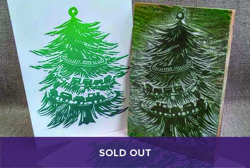 Sold out - Print your own woodcut Christmas card course