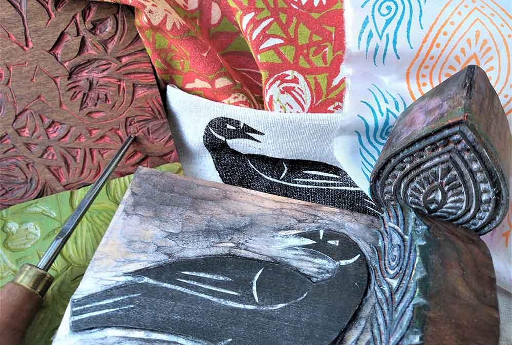Wood block textile printing 1000x675