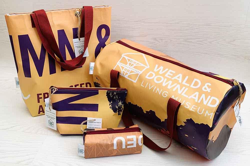 Upcycled bags, Autumn range